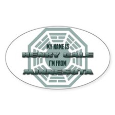 My Name Is Henry Gale Oval Decal