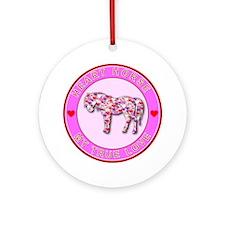 HEART HORSE - My True Love Ornament (Round)