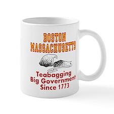 Boston Mass Teabagging Big Government Mug