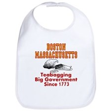 Boston Mass Teabagging Big Government Bib