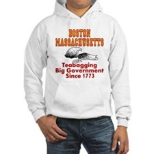 Boston Mass Teabagging Big Government Hoodie
