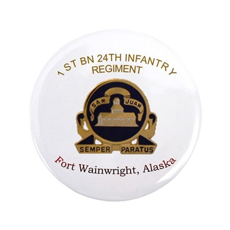 "1st bn 24th inf 3.5"" Button"