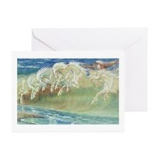 NEPTUNE'S HORSES Greeting Cards (Pk of 20)