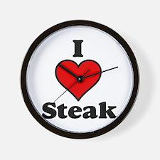 I heart Steak Wall Clock