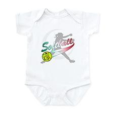 Girls Softball Onesie