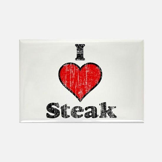 Vintage I heart Steak Rectangle Magnet