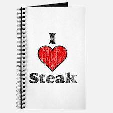 Vintage I heart Steak Journal