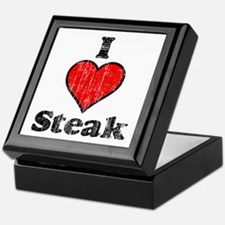 Vintage I heart Steak Keepsake Box