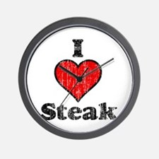 Vintage I heart Steak Wall Clock