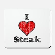 Vintage I heart Steak Mousepad