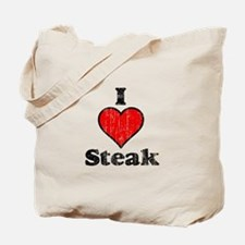 Vintage I heart Steak Tote Bag