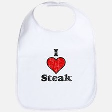 Vintage I heart Steak Bib