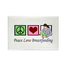 Peace Love Breastfeeding Rectangle Magnet
