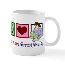 Peace Love Breastfeeding Mug