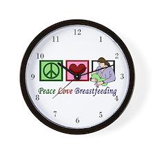 Peace Love Breastfeeding Wall Clock