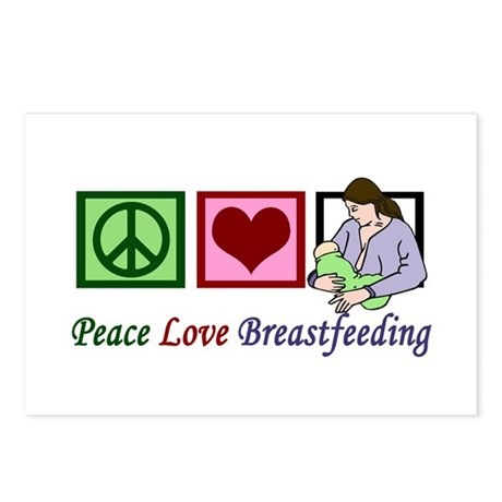 Peace Love Breastfeeding Postcards (Package of 8)