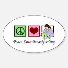 Peace Love Breastfeeding Decal