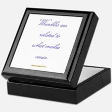 Wrinkles are related to what Keepsake Box