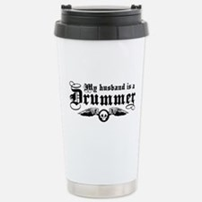 My Husband Is A Drummer Thermos Mug