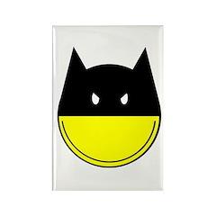 Bat Smiley Rectangle Magnet (10 pack)