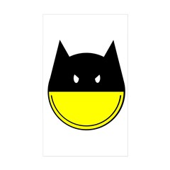 Bat Smiley Sticker (Rectangle 50 pk)