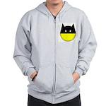 Bat Smiley Zip Hoodie