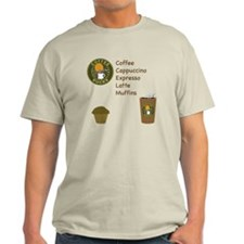 Coffee Bucks Menu Light T-Shirt