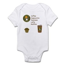Coffee Bucks Menu Infant Bodysuit