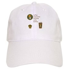 Coffee Bucks Menu Baseball Baseball Cap