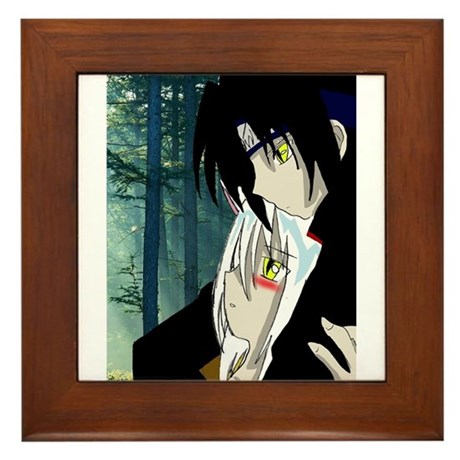 Luke and Zeldah Framed Tile