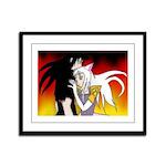 Luke and Zeldah - flames Framed Panel Print