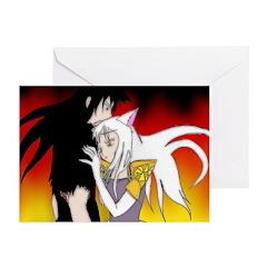 Luke and Zeldah - flames Greeting Cards (Pk of 10)