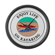 Enjoy Life Go Kayaking Large Wall Clock