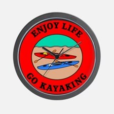 Enjoy Life Go Kayaking Wall Clock
