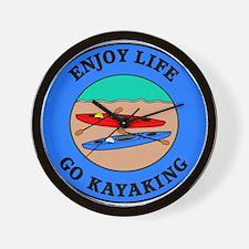 Enjoy Life Go Kayaking Wall Clock