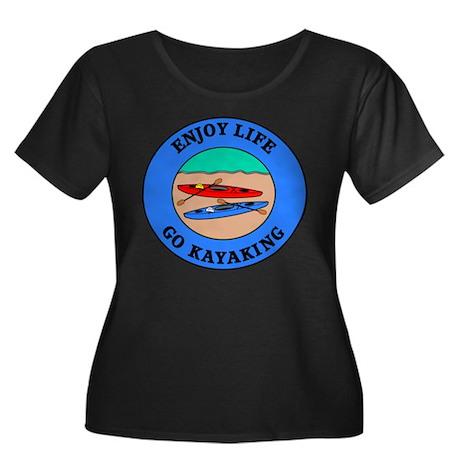 Enjoy Life Go Kayaking Women's Plus Size Scoop Nec