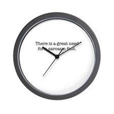 Sarcasm Font Wall Clock