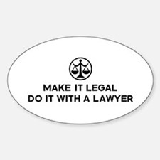 Funny Lawyer Oval Decal