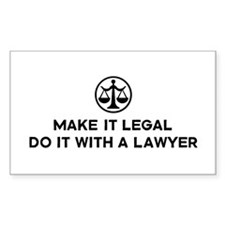 Funny Lawyer Rectangle Decal
