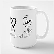 Peace Love Coffee Large Mug