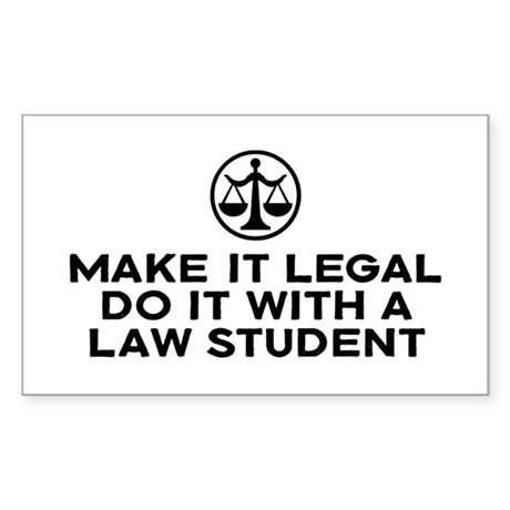 Funny Law Student Rectangle Sticker