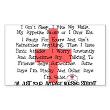 Nursing Student XX Rectangle Sticker 10 pk)