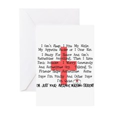 Nursing Student XX Greeting Card