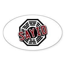 Sayid Dharma Logo from LOST Oval Decal