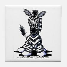 KiniArt Zebra Tile Coaster