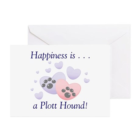 Happiness is...a Plott Hound Greeting Cards (Packa