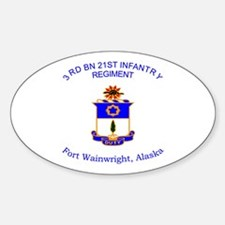 3rd bn 21st inf Sticker (Oval)
