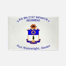 3rd bn 21st inf Rectangle Magnet