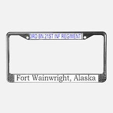 3rd bn 21st inf License Plate Frame
