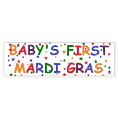 Baby's first Mardi Gras Bumper Sticker (50 pk)